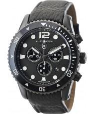 Elliot Brown 929-001-L01 Mens bloxworth svart lærreim chronograph klokke