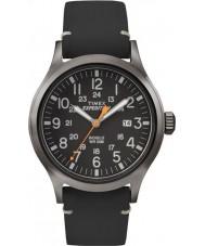 Timex TW4B01900 Mens ekspedisjon analog forhøyet svart skinn stropp watch