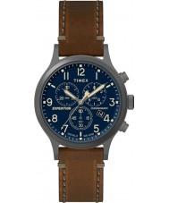Timex TW4B09000 Mens ekspedisjon brunt skinn stropp watch