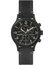 Timex TW4B09100 Mens ekspedisjon svart skinn stropp watch