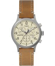 Timex TW4B09200 Mens ekspedisjon tan lærreim watch