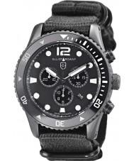 Elliot Brown 929-001-N02 Mens bloxworth svart stoff stroppen chronograph klokke