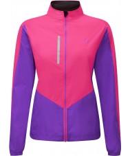 Ronhill RH-001473RH00179-12 Womens Vizion fluo rosa lilla windlite jakke - størrelse uk 12 (m)