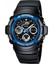 Casio AW-591-2AER Mens g-shock svart kronograf sportsklokke