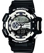 Casio GA-400-1AER Mens g-shock hvit svart chronograph klokke