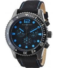 Elliot Brown 929-006-C02 Mens bloxworth svart stoff stroppen chronograph klokke