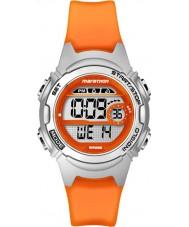 Timex TW5K96800 Ladies maraton midten av størrelse oransje resin kronograf stropp watch