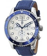 Elliot Brown 929-008-C01 Mens bloxworth blått stoff stroppen chronograph klokke
