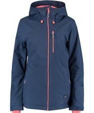 Oneill 655032-5032-L Ladies solo blå netter jakke - størrelse l