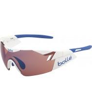 Bolle Sjette sans skinnende hvit rose blå solbriller