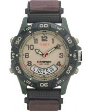 Timex T45181 Mens krem brun ekspedisjon combo watch