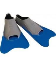 Zoggs 300395 Ultra blå og grå treningsføtter - uk størrelse 12
