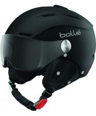 Bolle 31253 Back visir myk svart og sølv skihjelm med grå visir - 59-61cm