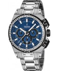 Festina F16968-2 Mens Chrono sykkel sølv stål chronograph klokke