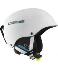 Cebe CBH174 Contest matt hvit blå ski hjelm - 62-64cm