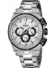 Festina F16968-1 Mens Chrono sykkel sølv stål chronograph klokke