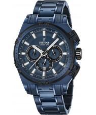 Festina F16973-1 Mens Chrono sykkel blå stål chronograph klokke