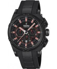 Festina F16971-4 Mens Chrono sykkel svart gummi chronograph klokke