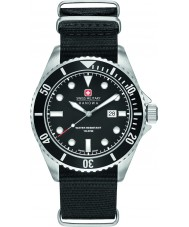 Swiss Military 6-4279-04-007-07 Mens sjøløve svart nylon stropp watch