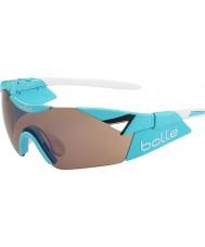 Bolle Sjette sans s skinnende blå modulator rose pistol solbriller