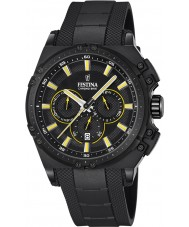 Festina F16971-3 Mens Chrono sykkel svart gummi chronograph klokke
