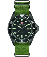 Swiss Military 6-4279-13-007 Mens sjøløve grønn nylon stropp watch