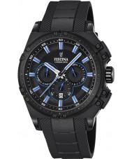 Festina F16971-2 Mens Chrono sykkel svart gummi chronograph klokke