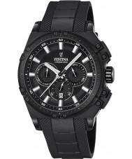 Festina F16971-1 Mens Chrono sykkel svart gummi chronograph klokke