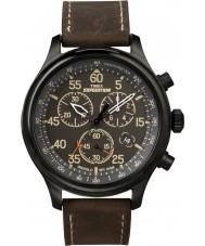 Timex T49905 Mens svart brun ekspedisjon feltet chronograph klokke