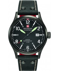 Swiss Military 6-4280-13-007-07 Mens undercover svart skinn stropp watch