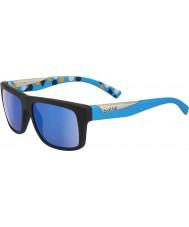 Bolle Clint matt svart blå polarisert gb-10 solbriller