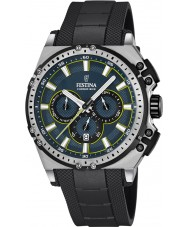 Festina F16970-3 Mens Chrono sykkel svart gummi chronograph klokke