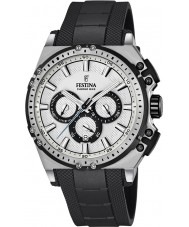 Festina F16970-1 Mens Chrono sykkel svart gummi chronograph klokke