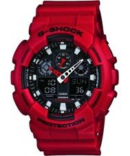 Casio GA-100B-4AER Mens g-shock verdens tid rød resin rem watch