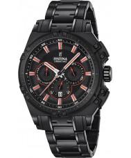 Festina F16969-4 Mens Chrono sykkel sort stål chronograph klokke