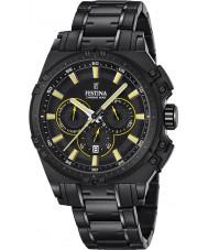Festina F16969-3 Mens Chrono sykkel sort stål chronograph klokke