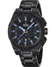 Festina F16969-2 Mens Chrono sykkel sort stål chronograph klokke