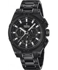 Festina F16969-1 Mens Chrono sykkel sort stål chronograph klokke