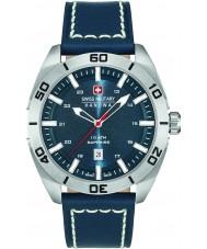 Swiss Military 6-4282-04-003 Mens champ blått skinn stropp watch