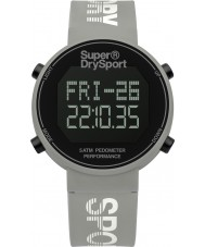 Superdry SYL203E Ladies digi skritteller grå silikon stropp watch