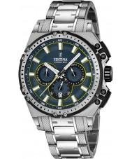 Festina F16968-3 Mens Chrono sykkel sølv stål chronograph klokke