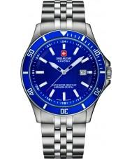 Swiss Military 6-5161-2-04-003 Mens flaggskip sølv stål armbånd watch