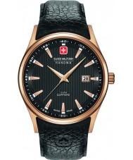 Swiss Military 6-4286-09-007 Mens navalus svart skinn stropp watch