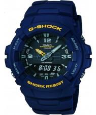 Casio G-100-2BVMUR Mens g-shock blå resin rem watch