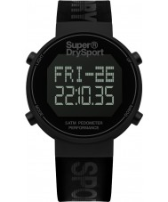 Superdry SYG203BB Mens digi skritteller svart silikon stropp watch