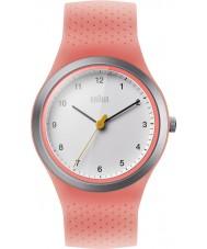 Braun BN0111WHPKL Ladies sports neon fersken silikon stropp watch