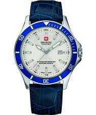 Swiss Military 6-4161-2-04-001-03 Mens flaggskip blått skinn stropp watch
