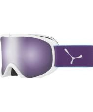 Cebe CBG60 Striker m hvit og fiolett - mørk rosa flash speil skibriller