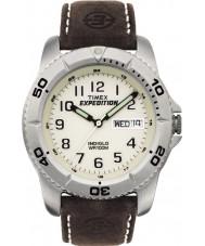 Timex T46681 Mens White brun ekspedisjon tradisjonell klokke