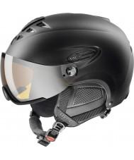 Uvex 5661622205 Hlmt 300 svart skihjelm med lasergold visir - 55-58cm